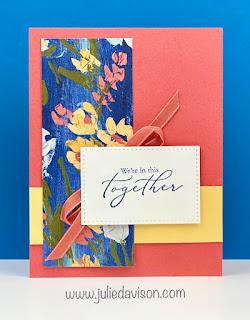 Stampin' Up! Sale-a-Bration 2021 Heal Your Heart + Fine Art Floral Card ~ www.juliedavison.com #stampinup #saleabration #sab2021