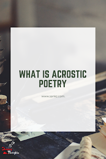What is Acrostic Poetry