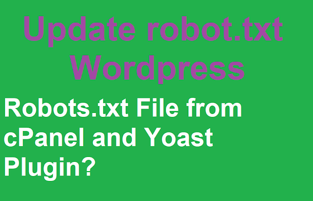 How to Update Robots.txt File from cPanel and Yoast Plugin?