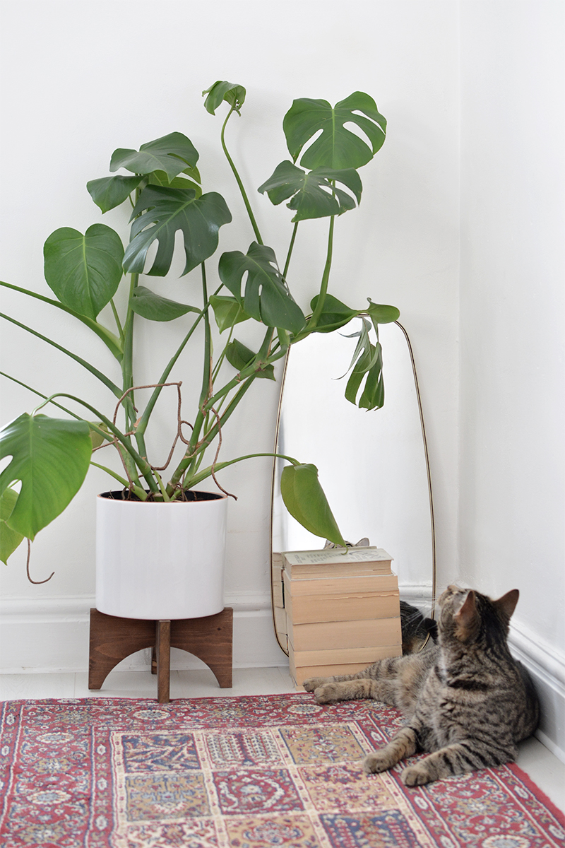 how to make mid century plant stand