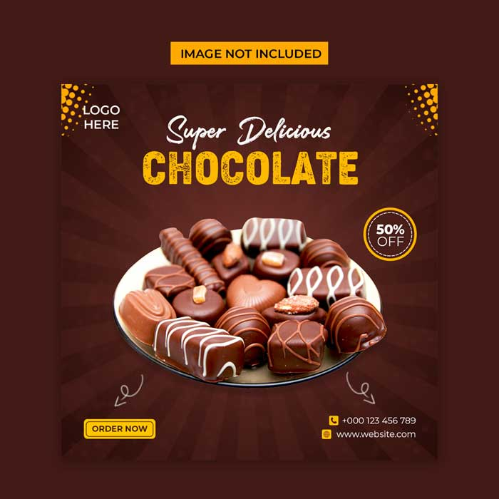 Delicious Chocolate PSD Template