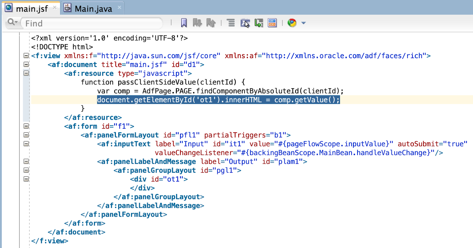 ADF Faces and Client-Side Value With innerHTML - DZone Web Dev