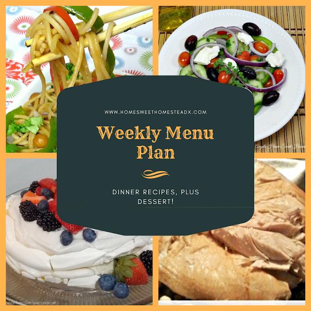 Weekly Menu Plan - Home Sweet Homestead #MenuPlan