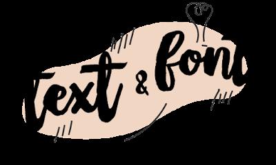 font branding blogger