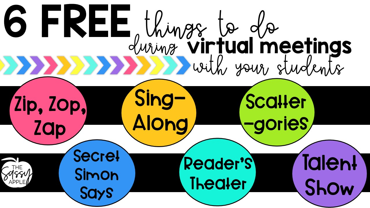 Free Games Activities For Virtual Class Meetings The Sassy Apple