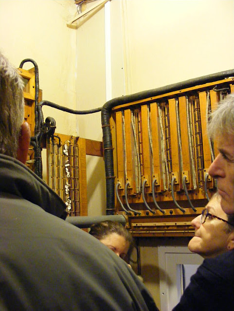 In the control room of the organ at Chateau de Cande.  Indre et Loire, France. Photographed by Susan Walter. Tour the Loire Valley with a classic car and a private guide.