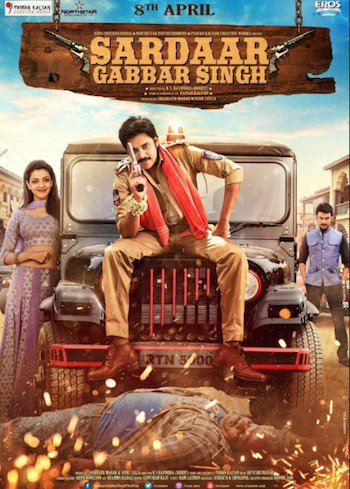 Sardaar Gabbar Singh 2016 BluRay Hindi Dubbed 720p 1GB