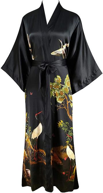 Best Black Silk Robes