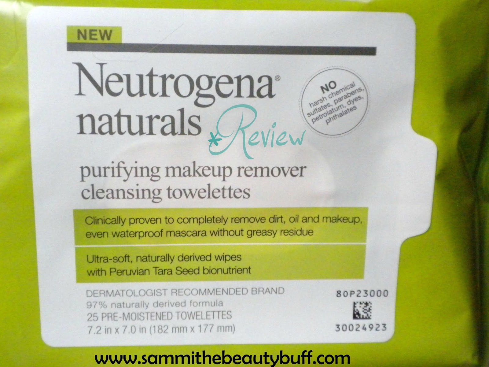 Review: Neutrogena Naturals Purifying Makeup Remover Cleansing Wipes