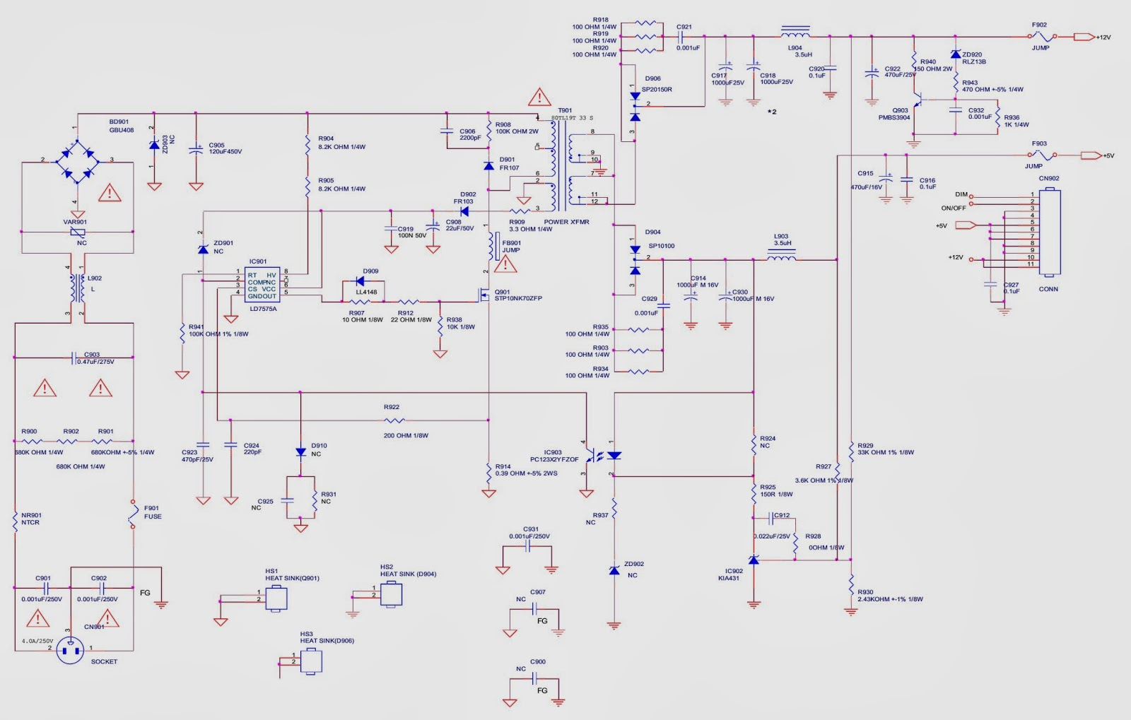 Tv Power Supply Schematic Best Electrical Circuit Wiring Diagram Samsung Skyworth 19l121w Lcd Smps Back Light Led Board
