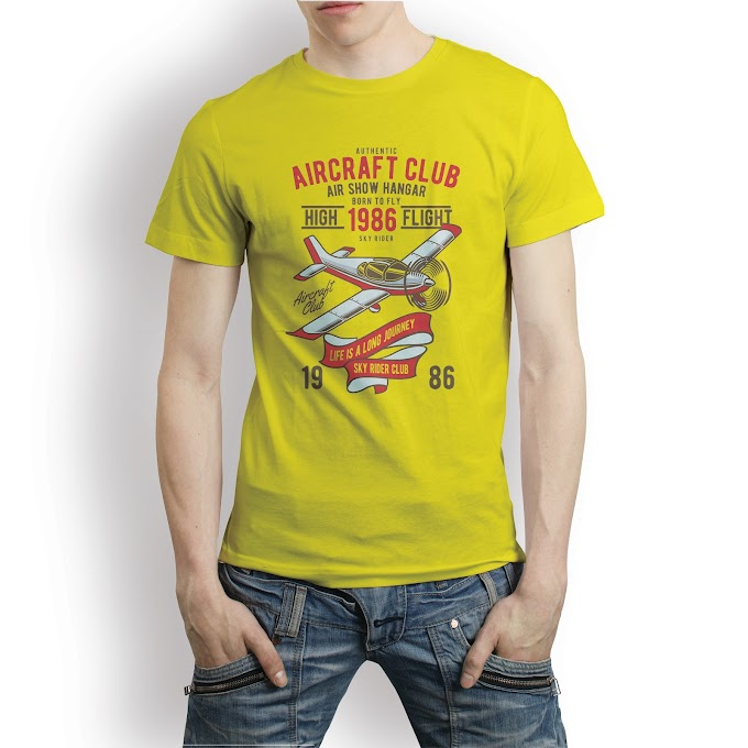 Retro Aircraft Club T shirt Template