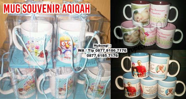 Souvenir aqiqah - Mug Souvenir Aqiqah