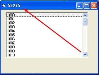 Sourcu Code VB 6 Menghitung Total Jumlah Angka Di Dalam List