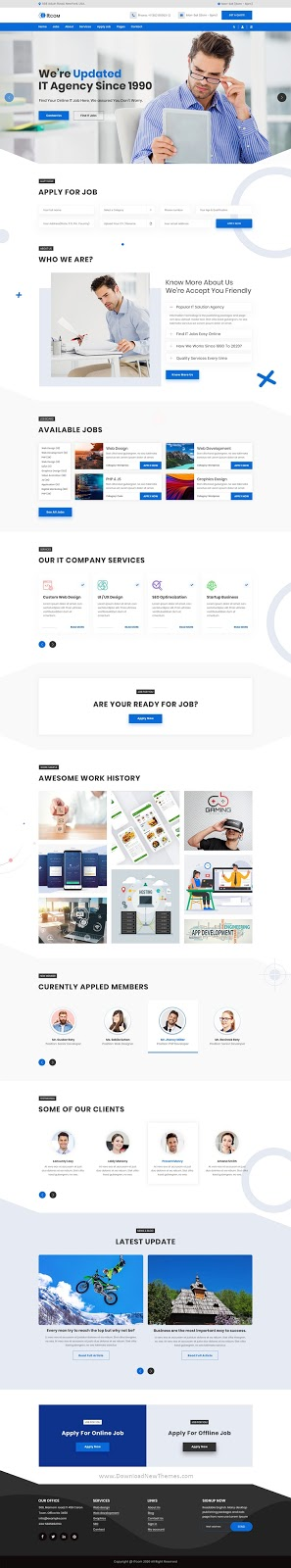 Multipurpose IT & Job Agency PSD Template