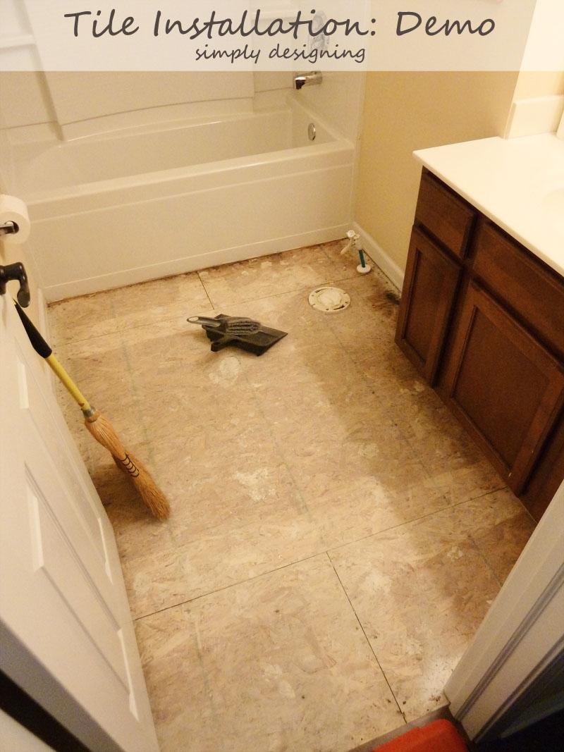 Tile Plan and Demolition {Tile Installation: Part 1} #