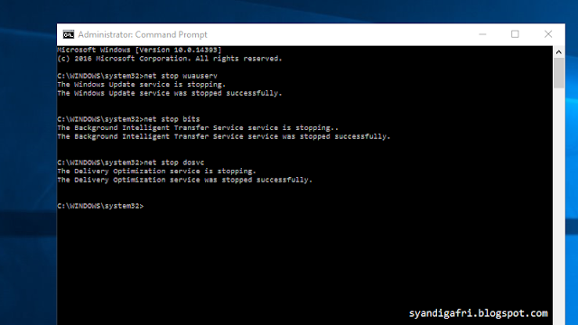 Cara Mematikan Update Otomatis Windows 10 Melalui CMD_