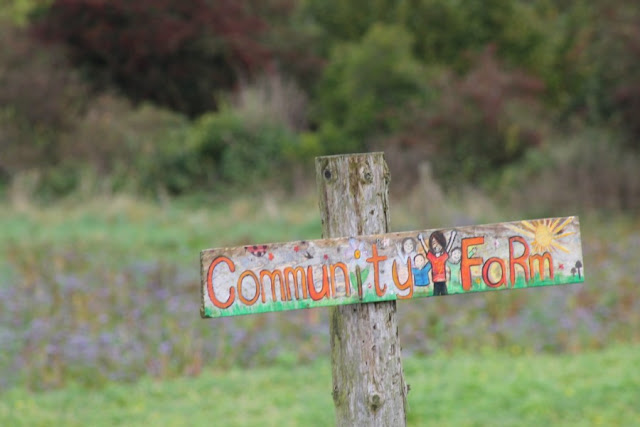Cloughjordan Eco Village Community Farm Sign