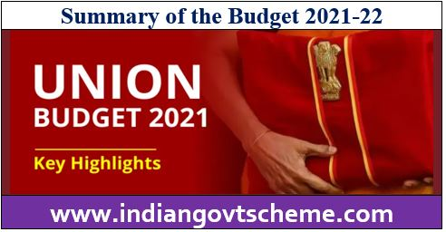 Summary of the Budget Part -A
