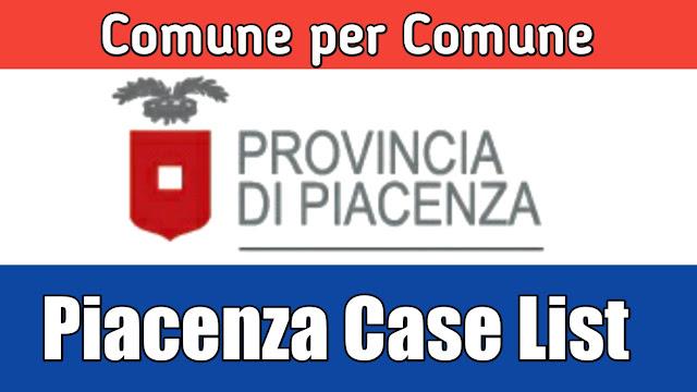 Comune de hisab nal Piacenza di list 25/03/2020