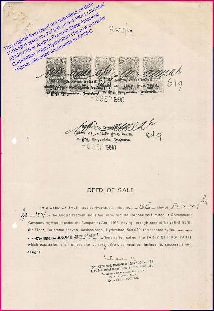 Original Sale Deed