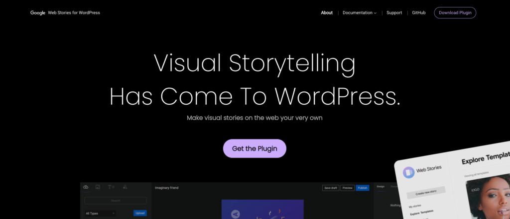 historias web para el plugin de WordPress de Google