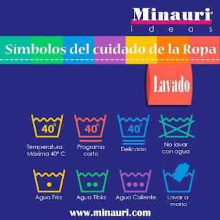 Cuidar la Ropa - Simbolos o iconos en las etiquetas de la ropa - clothes - Prendi cura degli abbiti e vestiti