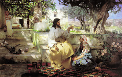 Πίνακας ζωγραφικής «Christ in the House   of Martha and Mary», Henryk Siemiradzki, 1886