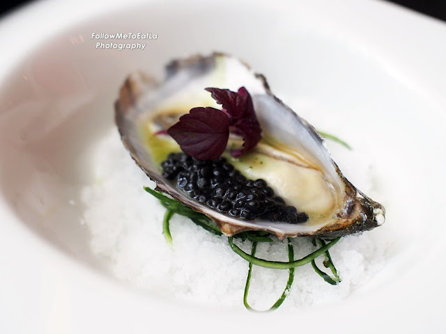Ostrica Oyster With Sherry Vinegar Jelly, Wasabi Chips & Avruga Caviar