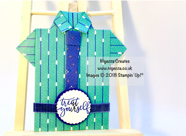 Stampin' Up!® True Gentleman Shirt Gift Card Holder by Nigezza Creates