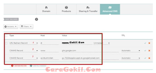 Setting Domain Di NameCheap Plus Gambar