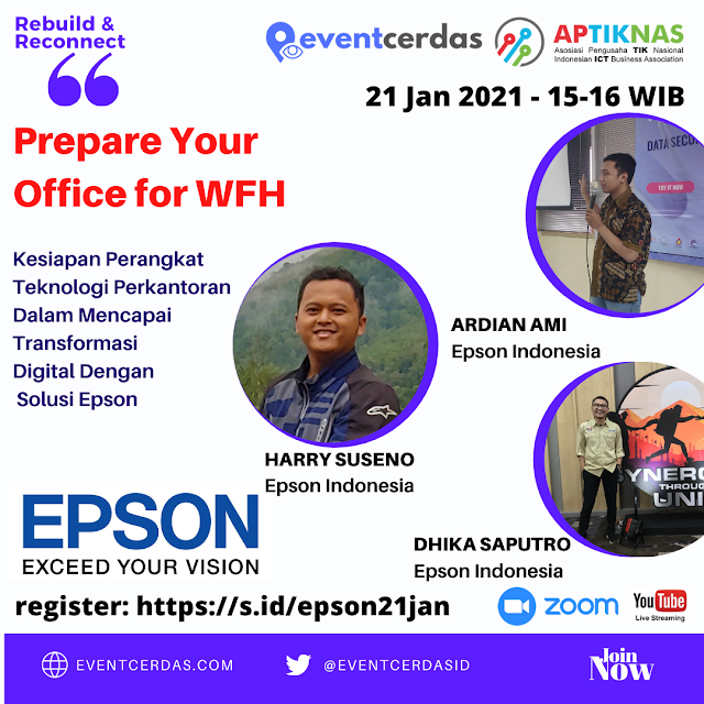 EVENTCERDAS : Epson Indonesia: Prepare Your Office for WFH with EPSON