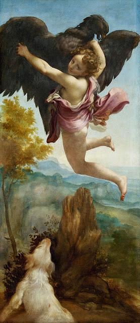 Antonio Allegri da Correggio, El rapto de Ganimedes (1531-1532), Kunsthistorisches Museum, Viena