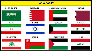 Bendera Negara Asia Barat