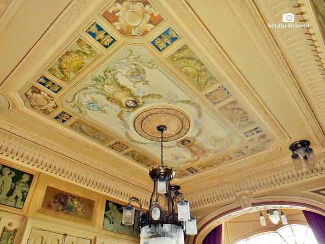 Palacete Rosa - Teto da Sala de visitas