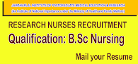 Research Nurse Jobs under the Ministry of Health and Family Welfare