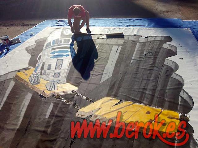 mural 3d en el suelo