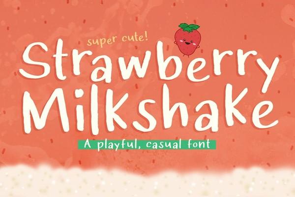 Strawberry Milkshake Font