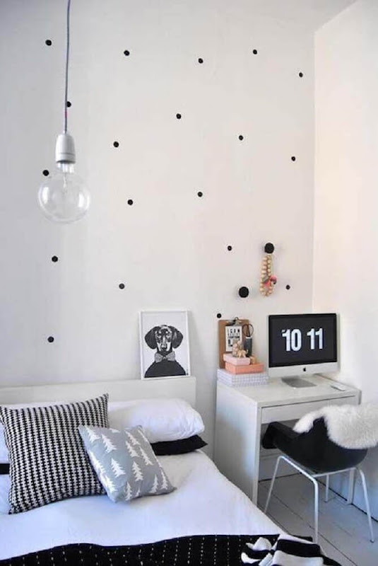 Decorating a women's room with a modern