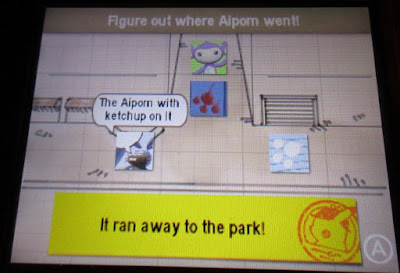 Detective Pikachu special demo version Aipom ran away to the park mystery solved