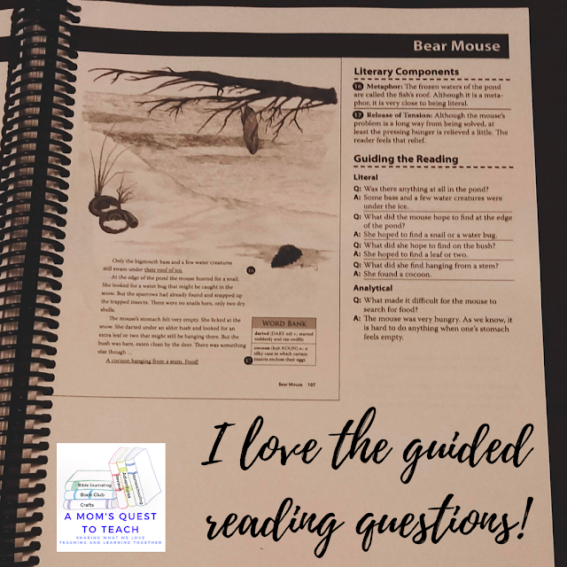 A Mom's Quest to Teach:  Building Reading Comprehension and Fluency Skills: A Review of Mosdos Press Literature - Opal - I love the questions