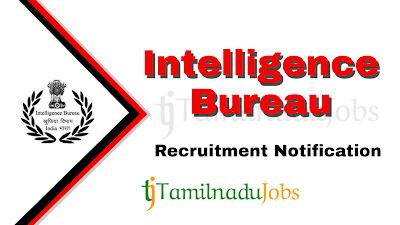 IB Recruitment Notification 2020, Central govt jobs, govt jobs in india, Latest IB Recruitment Notification update