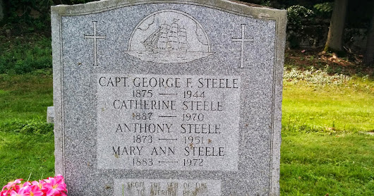 Captain George F Steele's Cemetary Plot and Obituary