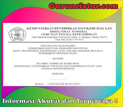 Format Banpem Perjanjian Kerjasama (PKS) PPG Tahun 2021