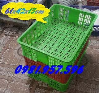 Sọt nhựa công nghiệp,sóng nhựa đựng rau, sọt nhựa Hs008