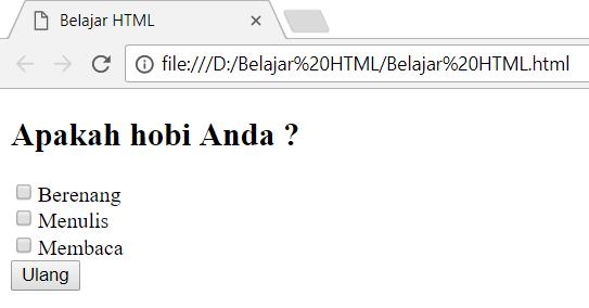 Jika pada artikel sebelumnya kita telah membahas  Penggunaan dan Penulisan Tag Button Dalam Form HTML