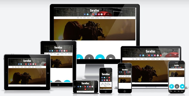 Sorralax Responsive Blogger Landing Page