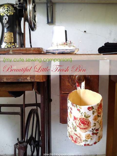 {tutorial} little trash bin for your sewing machine
