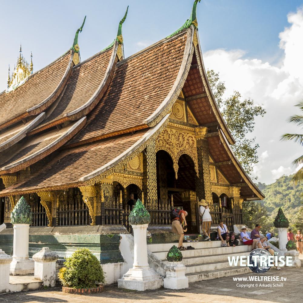 Wat Xieng Thong, temple in Luang Prabang, Laos. World travel Arkadij Schell from Bremerhaven.