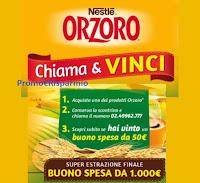 """Concorso """"Orzoro 2021 settembre"""" : vinci 180 buoni spesa da 50€"""