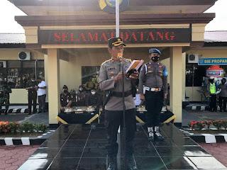 Polres Enrekang Laksanakan Apel Gelar Pasukan Ops Keselamatan 2021 Untuk Mengetahui Kesiapan Perosnil